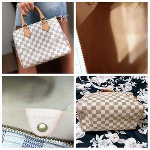 Louis Vuitton Bags - LOUIS VUITTON Speedy 25 Damier Azur